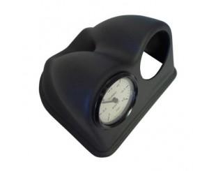 Support de manomètre double 52mm noir