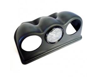 Support de manomètre triple 52mm noir