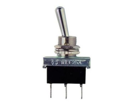 interrupteur On/Off/On acier 25Amp