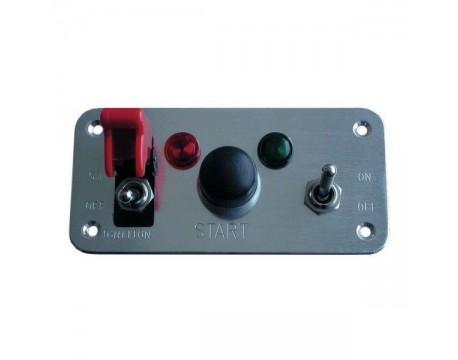 Console de démarrage Chromé double interrupteurs