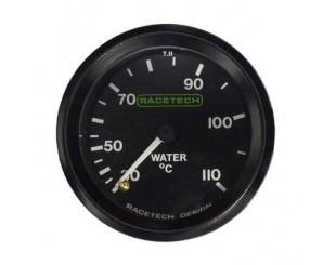 Manomètre de température d'eau mécanique Racetech