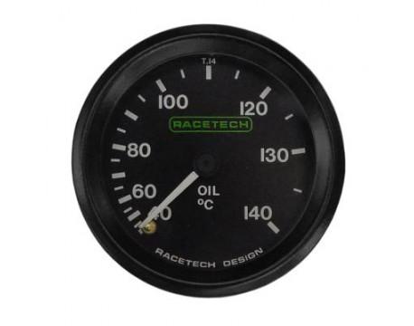 Manomètre de température d'huile mécanique Racetech