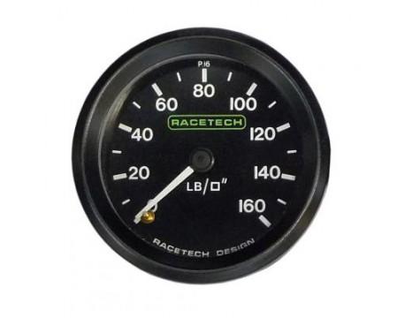 Manomètre de pression d'huile mécanique Racetech