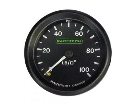 Manomètre de pression d'essence haute pression Racetech