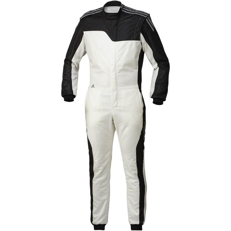 2061b47e9f237 Combinaison Adidas RSR Fia blanche noire - ASC Racing